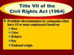 title vii of the civil rights act 1964