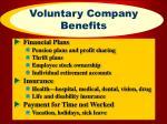 voluntary company benefits