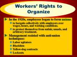 workers rights to organize