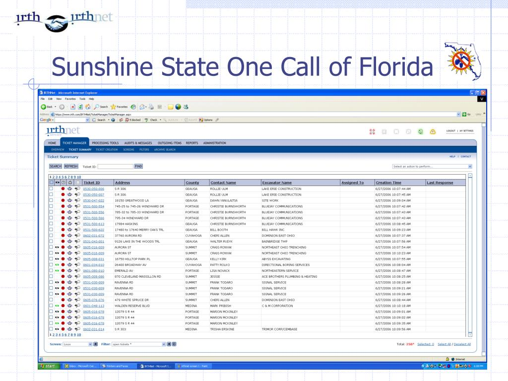 Sunshine State One Call of Florida