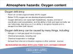 atmosphere hazards oxygen content