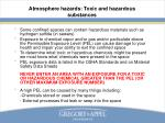 atmosphere hazards toxic and hazardous substances