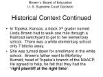 historical context continued