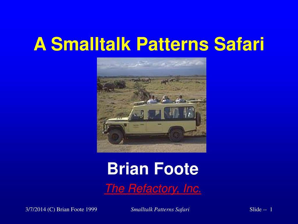 a smalltalk patterns safari l.
