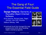 the gang of four the essential field guide