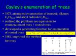 cayley s enumeration of trees