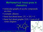 mathematical trees grow in chemistry