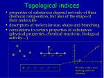 topological indices