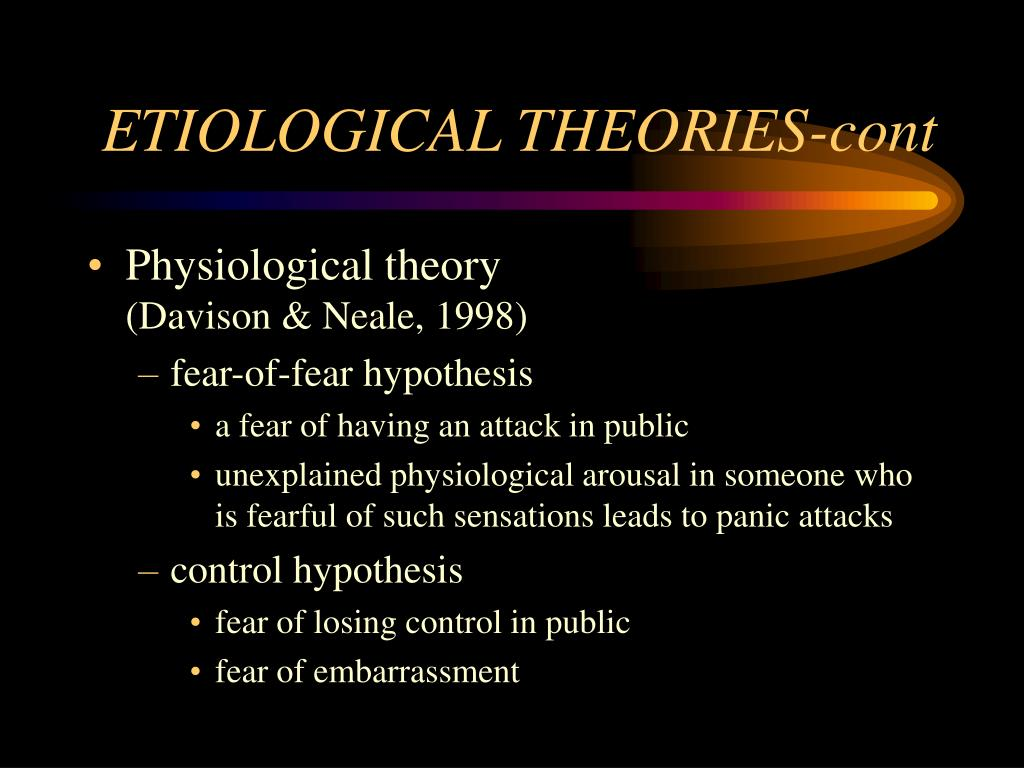 ETIOLOGICAL THEORIES-cont