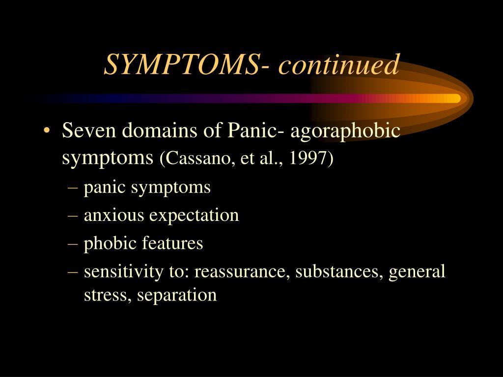 SYMPTOMS- continued