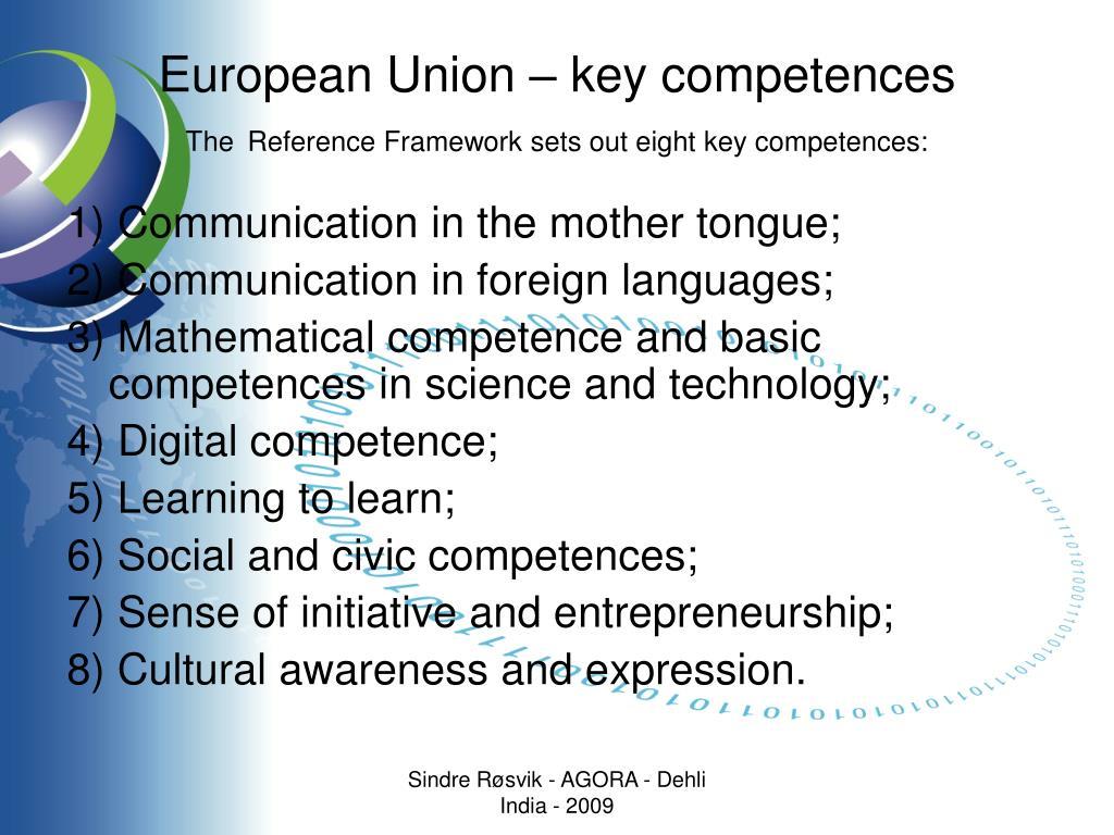 European Union – key competences