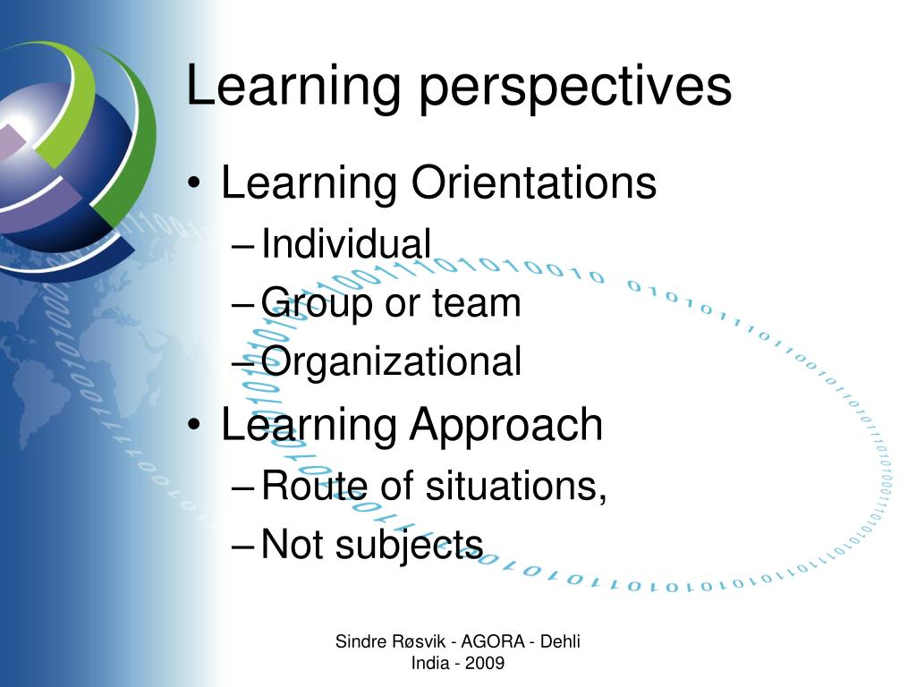 Learning perspectives