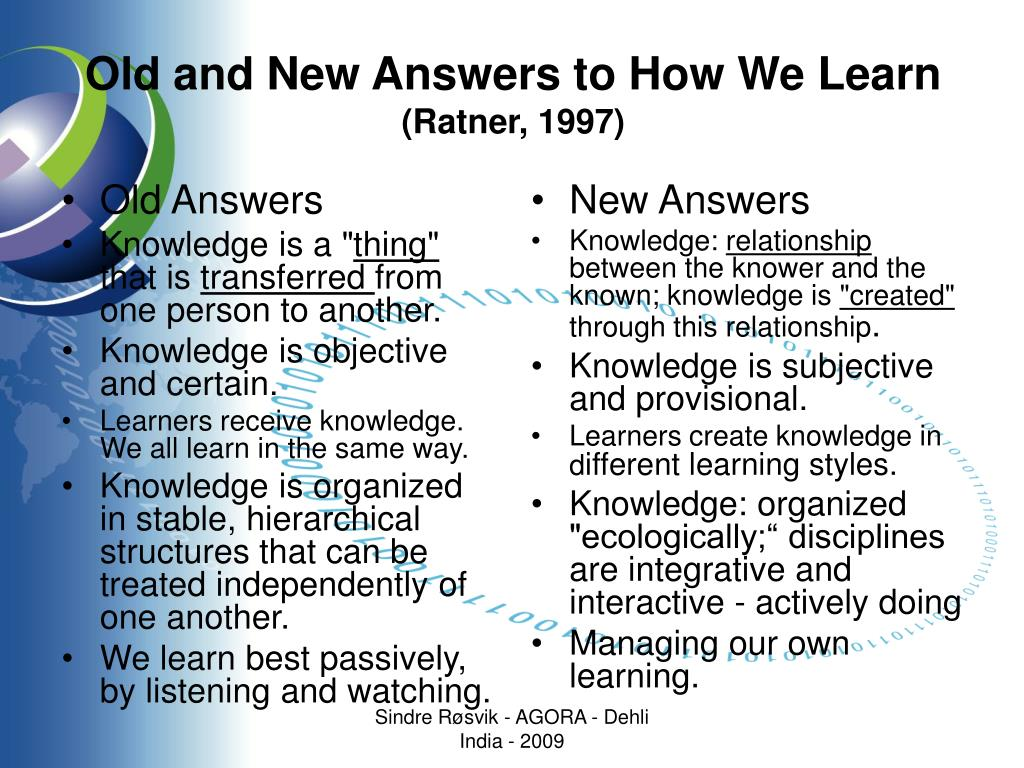 Old and New Answers to How We Learn