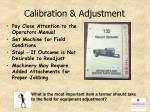 calibration adjustment
