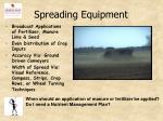spreading equipment