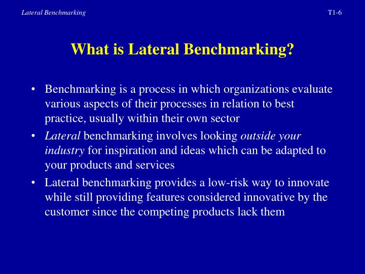 What is Lateral Benchmarking?