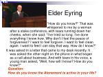 elder eyring