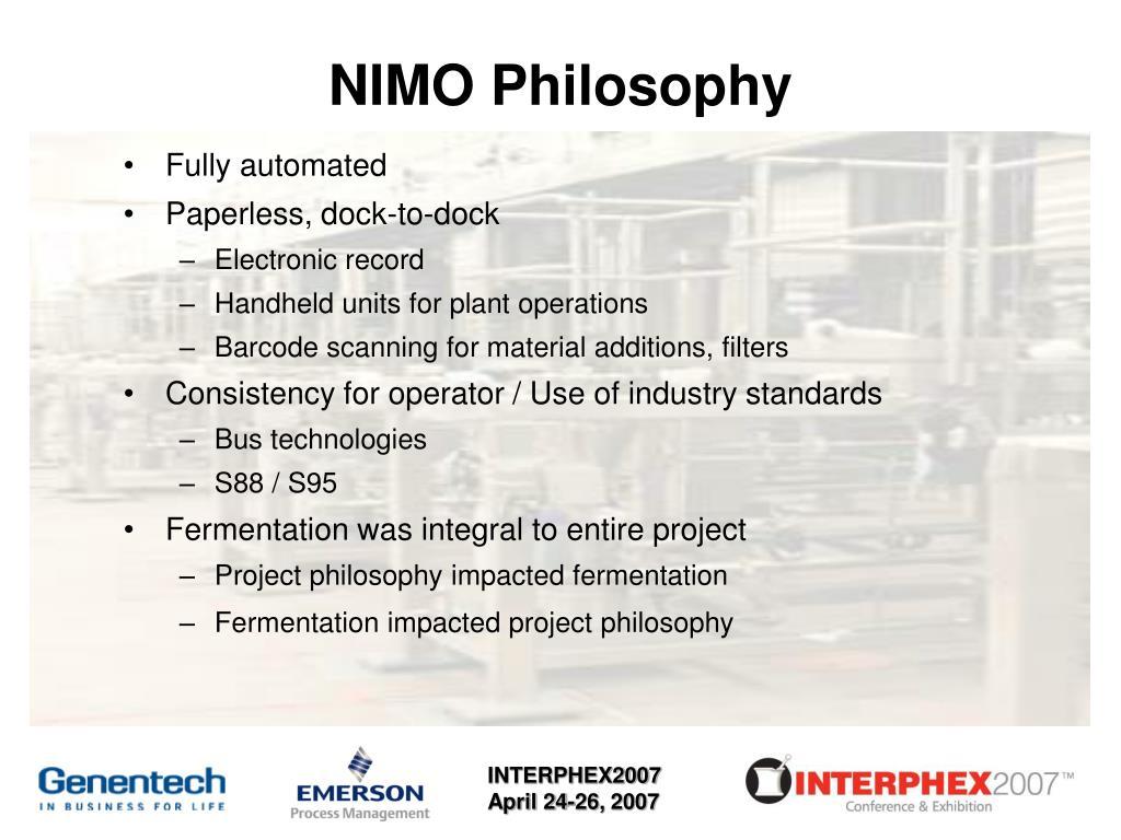 NIMO Philosophy