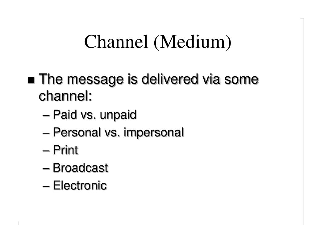 Channel (Medium)