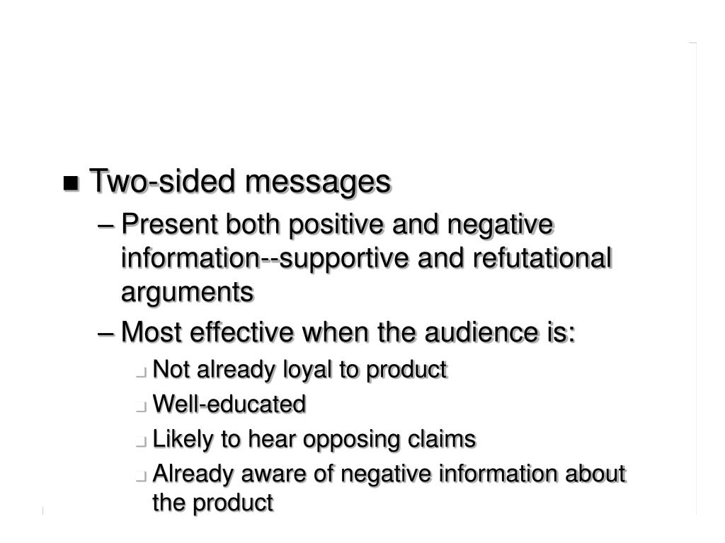 Two-sided messages