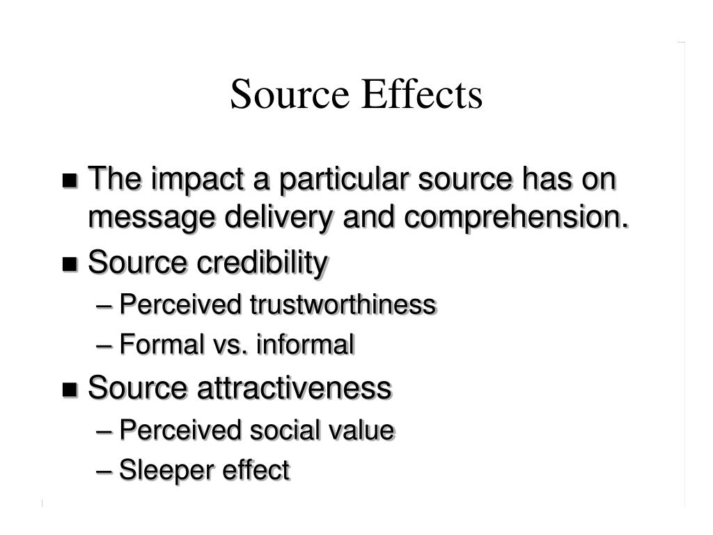 Source Effects