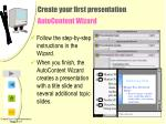 create your first presentation autocontent wizard12