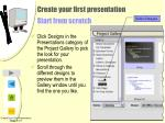 create your first presentation start from scratch
