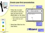 create your first presentation start from scratch17