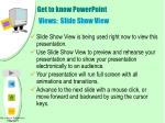 get to know powerpoint views slide show view