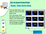 get to know powerpoint views slide sorter view