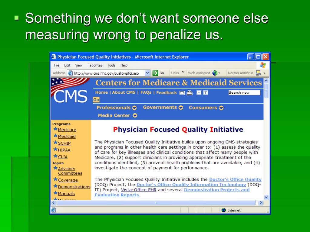Something we don't want someone else measuring wrong to penalize us.