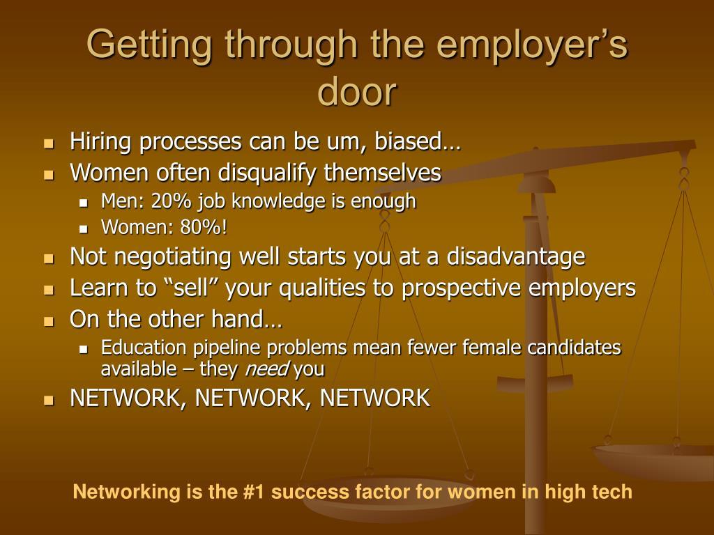Getting through the employer's door