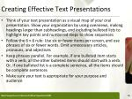 creating effective text presentations