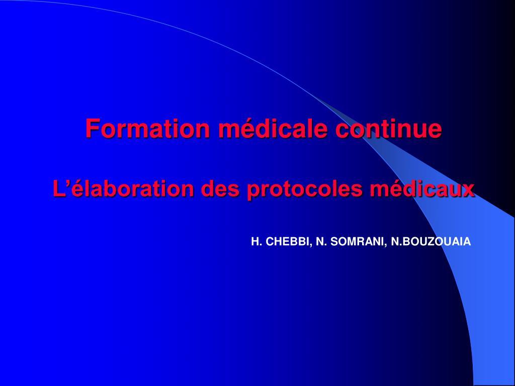 formation m dicale continue l laboration des protocoles m dicaux l.