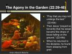 the agony in the garden 22 39 46