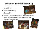 indiana 4 h youth round up