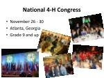 national 4 h congress