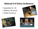 national 4 h dairy conference