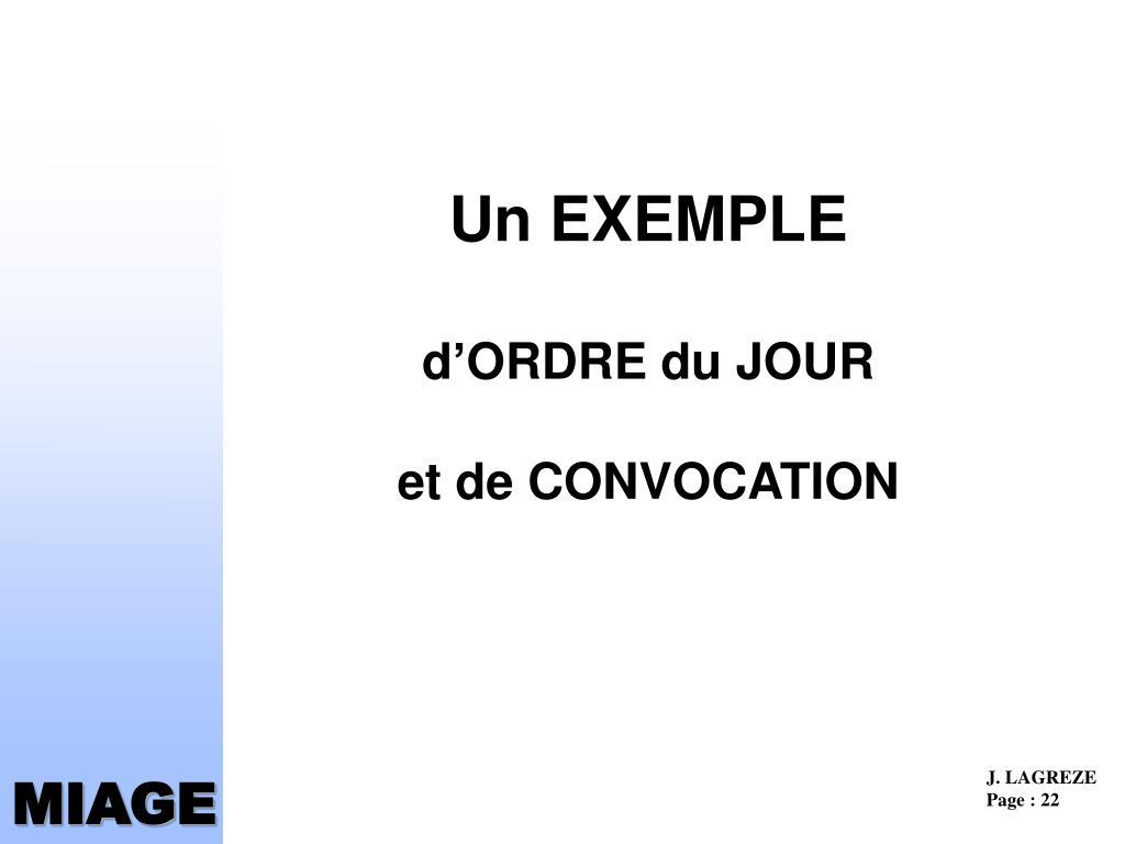 Un EXEMPLE