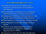 sector reform objectives gas