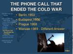 the phone call that ended the cold war