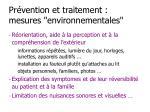 pr vention et traitement mesures environnementales
