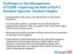 challenges in the management of t2dm exploring the role of glp 1 receptor agonists southern region2