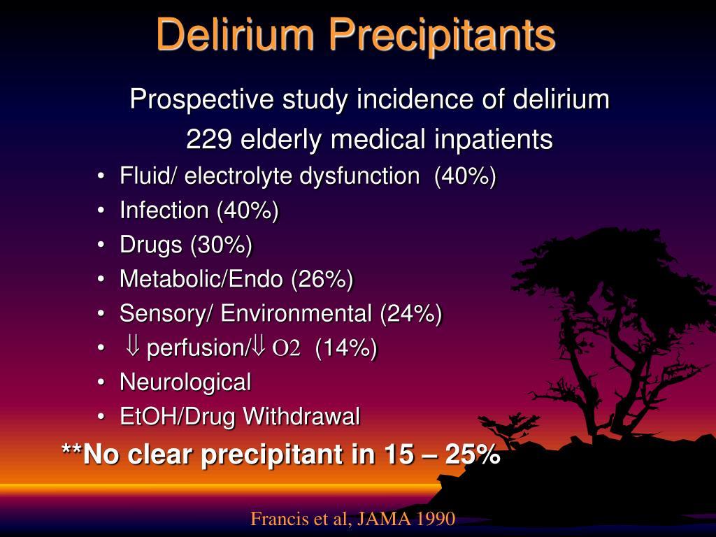 Delirium Precipitants