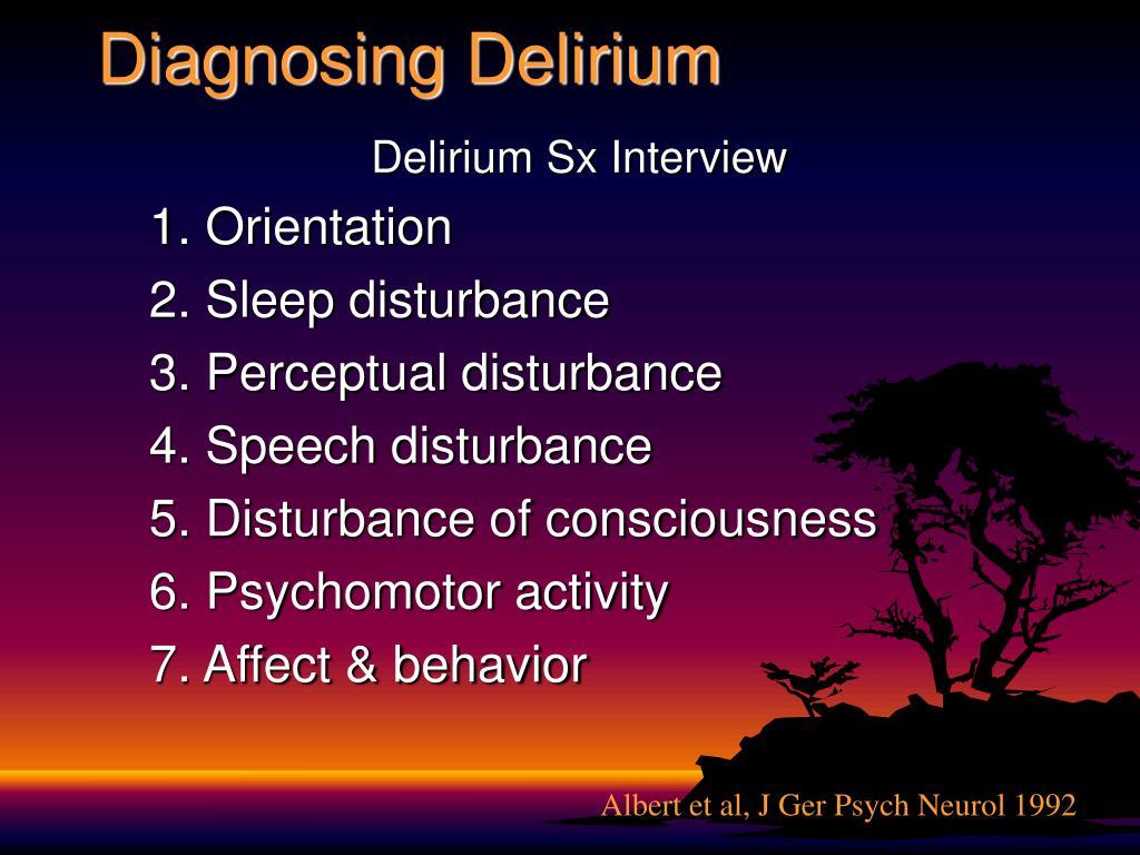 Diagnosing Delirium