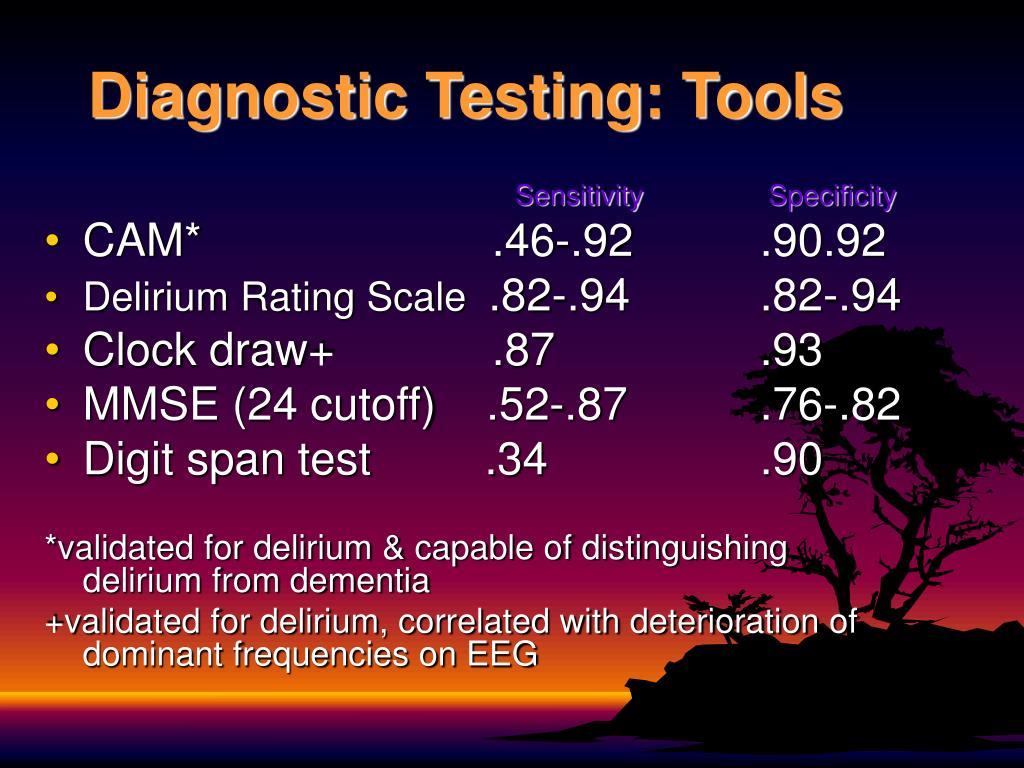 Diagnostic Testing: Tools
