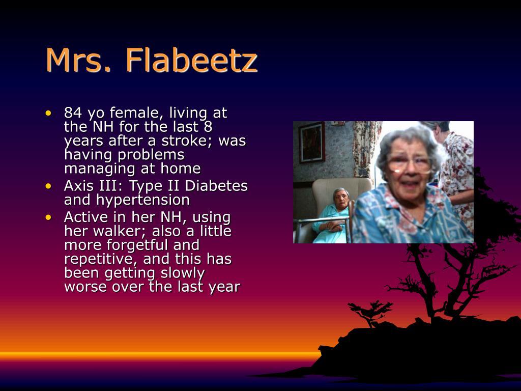 Mrs. Flabeetz