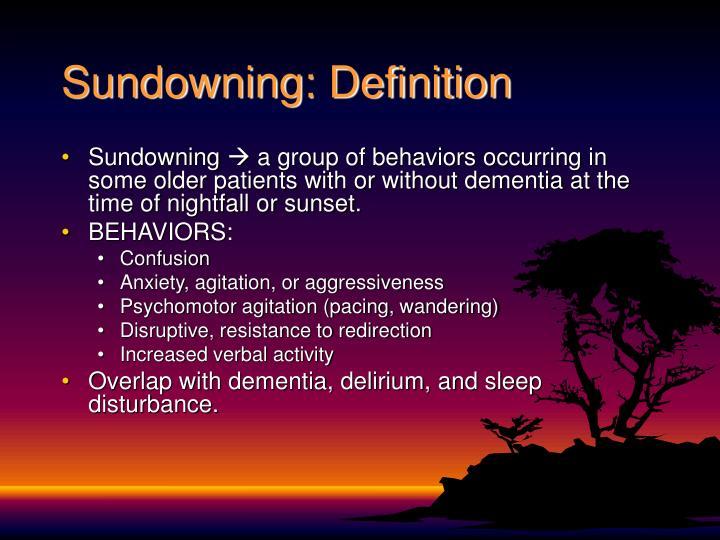 Sundowning definition