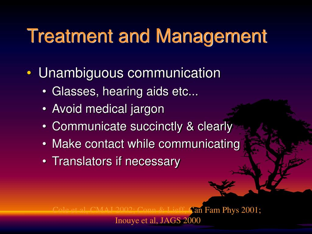 Treatment and Management