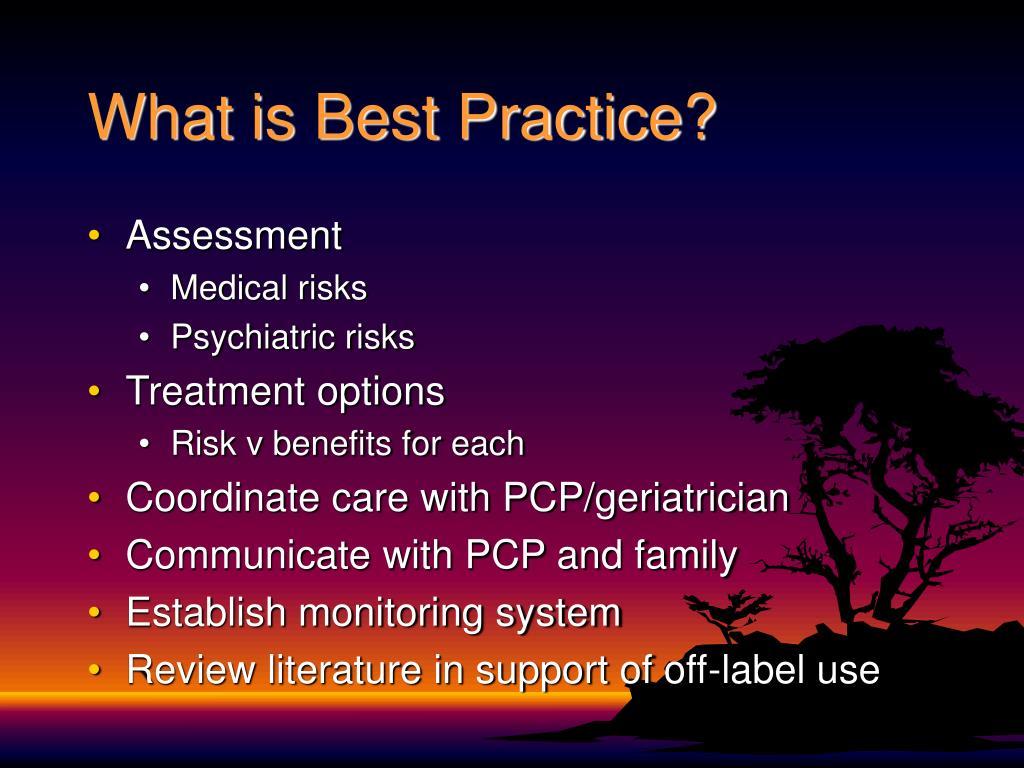 What is Best Practice?